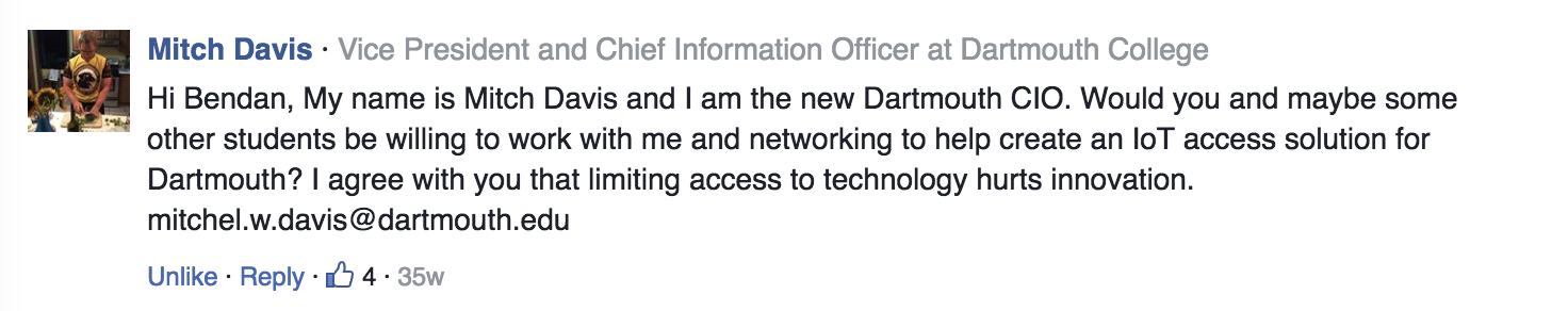 Comment on my Op-Ed from the VP/CIO